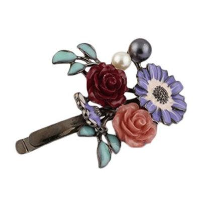 Freedi Girl Cherry Hair Clip Pin Boho Hawaii Hair Clip Accessories for Women Cute Purple