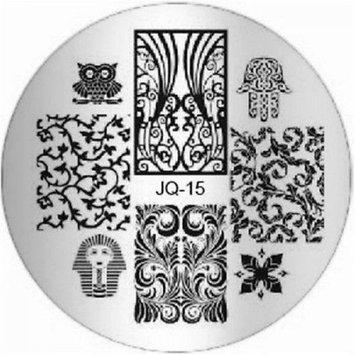 Grandsao 1Pc Brainy Nail Art Stamping Full Designs Manicure Stamper JQ-Series Type Code JQ15