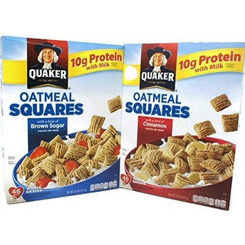 Variety Pack - Quaker Oatmeal Squares (14.5 oz) - Cinnamon, Brown Sugar