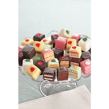 Order Delicious Traditional Petit Fours for Parties - Bite Size Frozen Dessert Appetizers (60 Piece Tray)