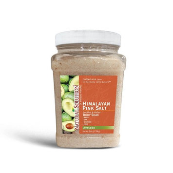 Ultra Moisturizing Mineral body Soak Super Moisturizer with Avocado Oil, 5 pound Jar by Natural Solution Pink Salt Company [Avocado Oil Bath Salt]