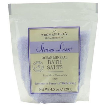 Aromafloria 278674 Stress Less Bath Salt Packet 4.5 oz Blend of Lavender Chamomil & Sage
