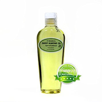 Dr. Adorable - 100% Pure Sweet Almond Oil Organic Cold Pressed Natural Hair Skin - 8 oz