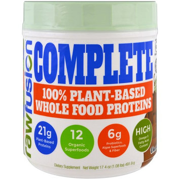 Raw Fusion, Complete, 100% Plant-Based Whole Food Proteins, Chocolate , 17.4 oz (491.9 g)