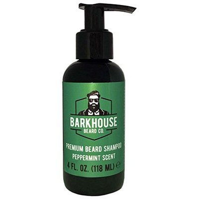 Barkhouse Beard Co. Premium Beard Shampoo, relieves itching and prevents dandruff, peppermint scent, 4oz bottle