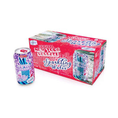 Original New York Seltzer Sparkling Water, 6-Berry, 12 Fl Oz (Pack of 8)