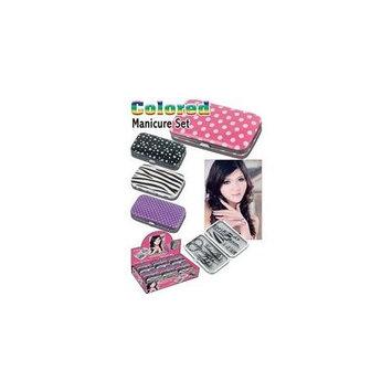 Colored Manicure Set - Pink Polka Dot Nail Kit