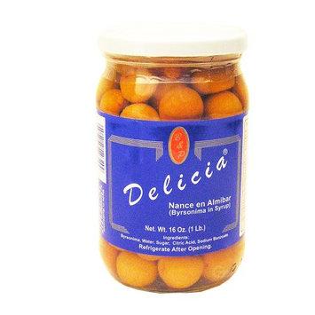 Las Delicias Delicias Yellow Cherry 16 oz Nance en Almibar (Pack of 24)