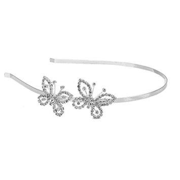 ROSENICE Bridal Tiara Crown Hairband Crystal Rhinestone Butterfly Headband