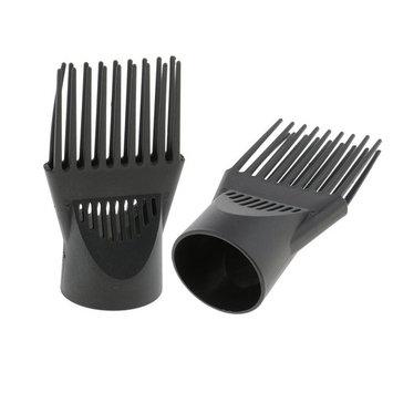 MagiDeal 2pcs Professional Universal Hairdressing Salon Hair Dryer Diffuser Wind Blow Cover Comb Attachment Nozzle Black Plastic Dual Grip
