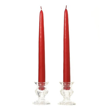 Usc 3 Pairs Taper Candles Unscented 15 Inch Raspberry Tapers .88 in. diameter x 15 in. tall (Pack of 3)