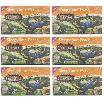 Celestial Seasonings Herbal Tea,Sleepytime Peach, (6 Pack)
