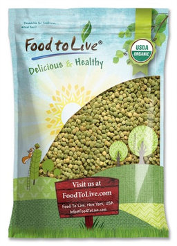 Organic Green Lentils by Food to Live (Whole Dry Beans, Non-GMO, Raw, Sproutable, Bulk) - 15 Pounds