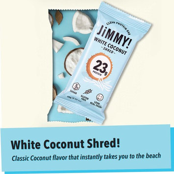 JIMMY BAR White Coconut Shred Protein Bar 12ct, 2.05 OZ