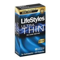 Ansell USA ANS21010 Lifestyles Ultra Thin Latex Condoms 10 Count
