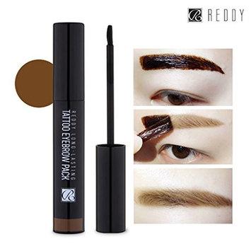 [REDDY] Long Lasting Tattoo Eyebrow Pack 10g, Peel-Off 7 Days Eyebrow Tint Gel, Made in Korea (Light Brown)
