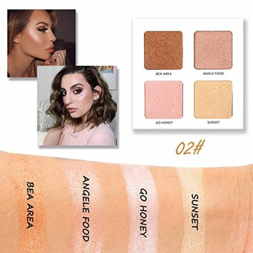 Eyeshadow,Jinjin 4 Color Shimmer Glitter Eye Shadow Powder Palette Matt Eyeshadow Cosmetic Makeup