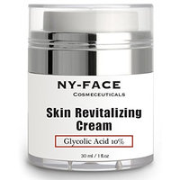 NY FACE's Glycolic Acid Cream - With 10% Glycolic Acid, 20% Naturally Exfoliates, Visibly Reduces Wrinkles