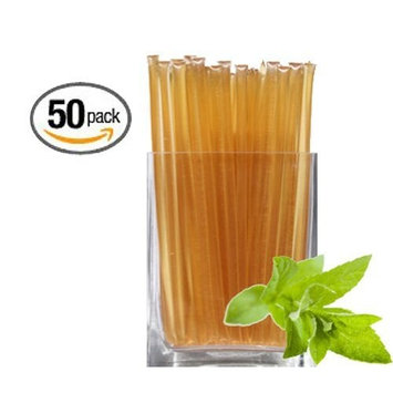 Natural Mint Honeystix - Naturally Flavored Honey - Pack of 50 Stix - 250g [Natural Mint]