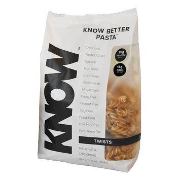 KNOW Foods, Chickpea Pasta, Twists, 14g Protein, 7g Fiber, 1lb Bag, High Protein, Gluten Free, Vegan [Twists]
