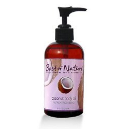 Coconut Body Oil - 8oz- 100% Pure & Natural - For Body & Hair!