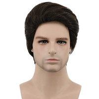 Karlery Mens Short Bob Straight Dark Brown Wig Halloween Costume Wig Anime Cosplay Wig