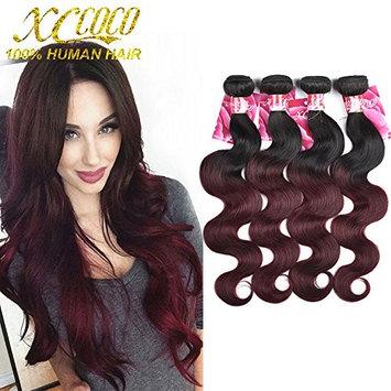 XCCOCO Ombre Body Wave Hair Weave 4 Bundles(16