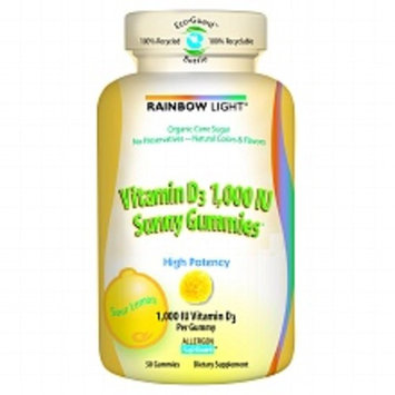 Rainbow Light Sour Lemon Vitamin D3 1000 IU Sunny Gummies