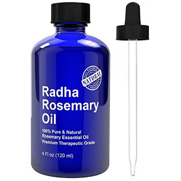 Radha Beauty Rosemary Essential Oil 4 oz - 100% Pure Therapeutic Grade [Rosemary]