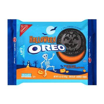 Oreo Halloween Orange Colored Crème Chocolate Sandwich Cookies 15.35oz , pack of 1