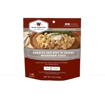 WISE COMPANY Camp Food, Noodles & Beef, 2-Serving Pouch