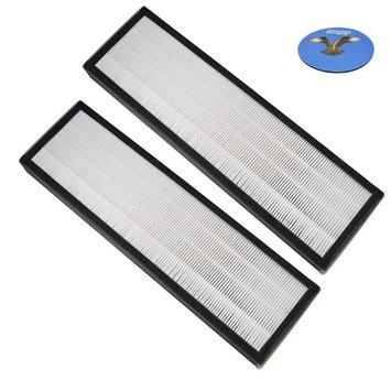 HQRP True HEPA Filter for Oransi Finn Air Purifier / Air Cleaner Replacement + HQRP Coaster (Pack of 2)