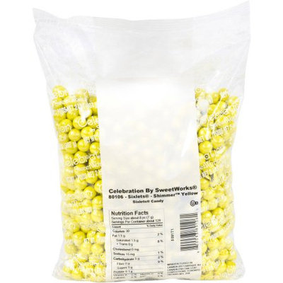 Sweetworks Sixlets Shimmer Yellow Balls 2lbs