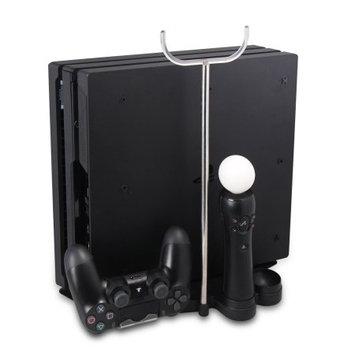 AGPtek Multifunctional PS4 Pro Slim Stand 8 Controller Thumb Grip Cover Cap Black