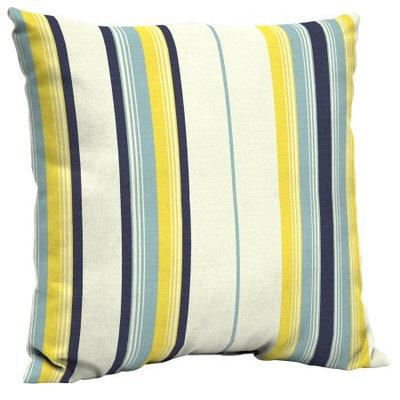 Arden Companies Mainstays Outdoor Patio Dining Pillow Back, Cambaya Stripe Blue
