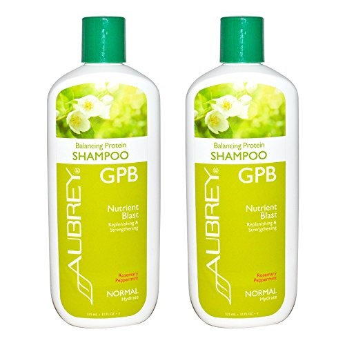 Aubrey Organics GPB Balancing Protein Shampoo Rosemary Peppermint With Organic Aloe, Olive Oil, Milk Protein and Organic Soy Protein, 11 fl oz (325 ml) (Pack of 2)