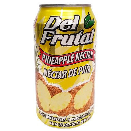Del Frutal Pineapple Nectar 11.16 oz - Sabor Pina (Pack of 18)
