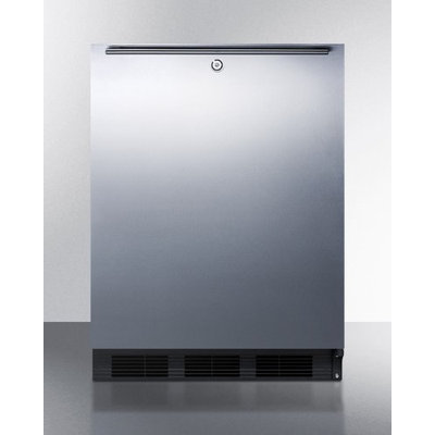 SUMMIT ADA compliant built-in undercounter all-refrigerator with automatic defrost, stainless steel door, and thin