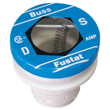 Bussmann S-12BC 12 Amp Dual Element Time Delay Rejection Base Plug Fuse