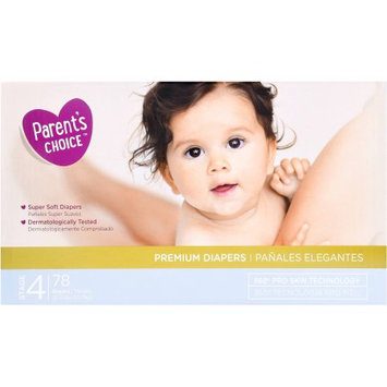 Wal-mart Stores, Inc. Parent's Choice Premium Diapers, Size 4, 78 Diapers