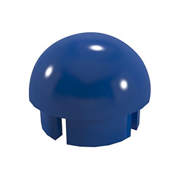 Formufit Drain Tubes & Fittings 1-1/4 in. Furniture Grade PVC Internal Ball Cap in Blue (10-Pack) F114BEC-BL-10