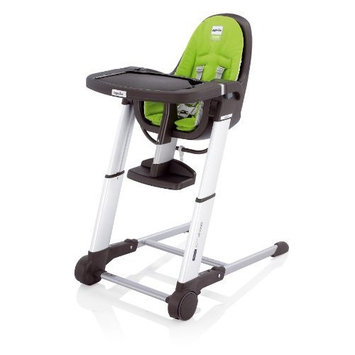 Inglesina Zuma Gray Highchair, Lime Green