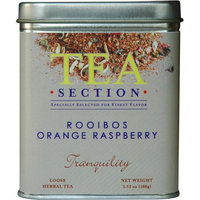 Tea Section Rooibos Orange Raspberry Loose Tea 3.52 oz - Case of 6