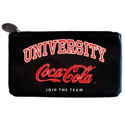 Coca cola University cosmetic bag