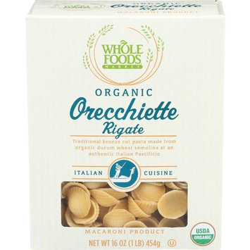 Whole Foods Market, Organic Orecchiette Rigate, 16 oz