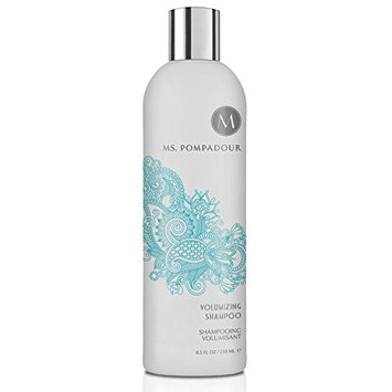 Ms. Pompadour Volumizing Hair Shampoo, light-weight, maximum fullness, cleansing properties - Perfect for Fine to Normal Hair, 8.5oz