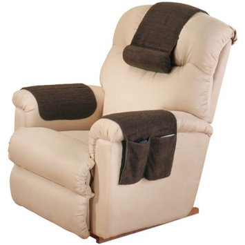 EasyComforts Brown Sherpa Arm Rest Organizer by OakRidge Comforts