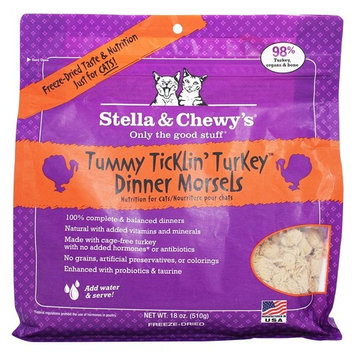 Freeze Dried Dinner Morsels For Cats Tummy Ticklin Turkey - 18 oz.