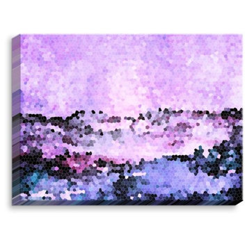 DiaNoche Designs 'Midnight Mood' by Iris Lehnhardt Painting Print on Wrapped Canvas
