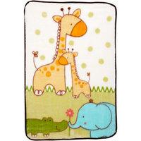 Crown Crafts Fisher-Price Luv U Zoo Luxury Plush Throw Blanket Sage 30